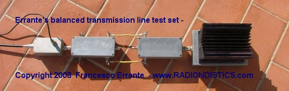 Balanced-balanced measurement test set under frequency response check
